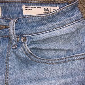 Super high rise Denim shorts